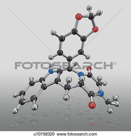 Stock Photograph of Cialis drug molecule u10758329.