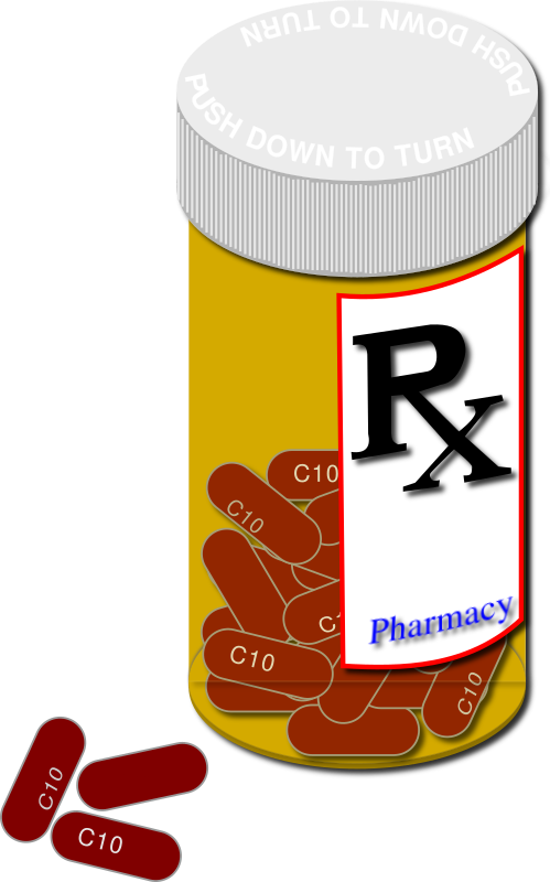 generic and brand pills.