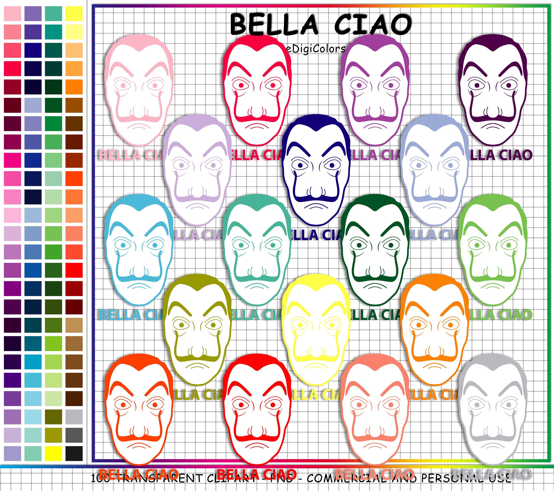 100 Bella Ciao Mask Clipart La Casa De Papel Clipart Mask.