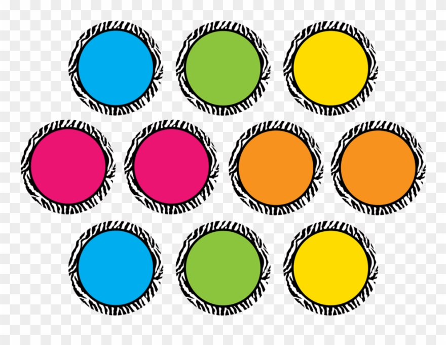 Tcr5390 Zebra Colorful Circles Accents Image.