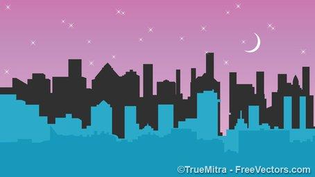 Cidade à noite Clipart Picture Free Download.