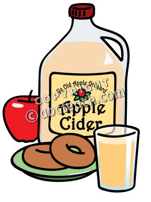 Apple Cider In Circle Clipart.