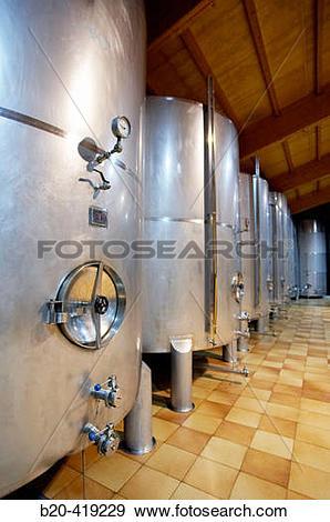 Stock Photograph of Cider tanks. Cider house, Urnieta, Gipuzkoa.