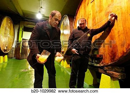 Stock Photo of ?Kupela? barrels, Petritegi typical cider house.