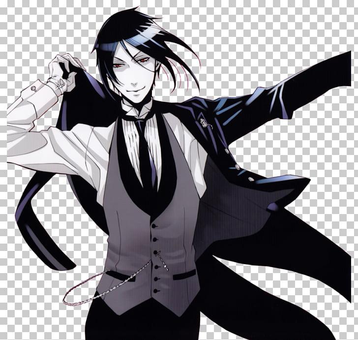 Sebastian Michaelis Ciel Phantomhive Black Butler, Black.