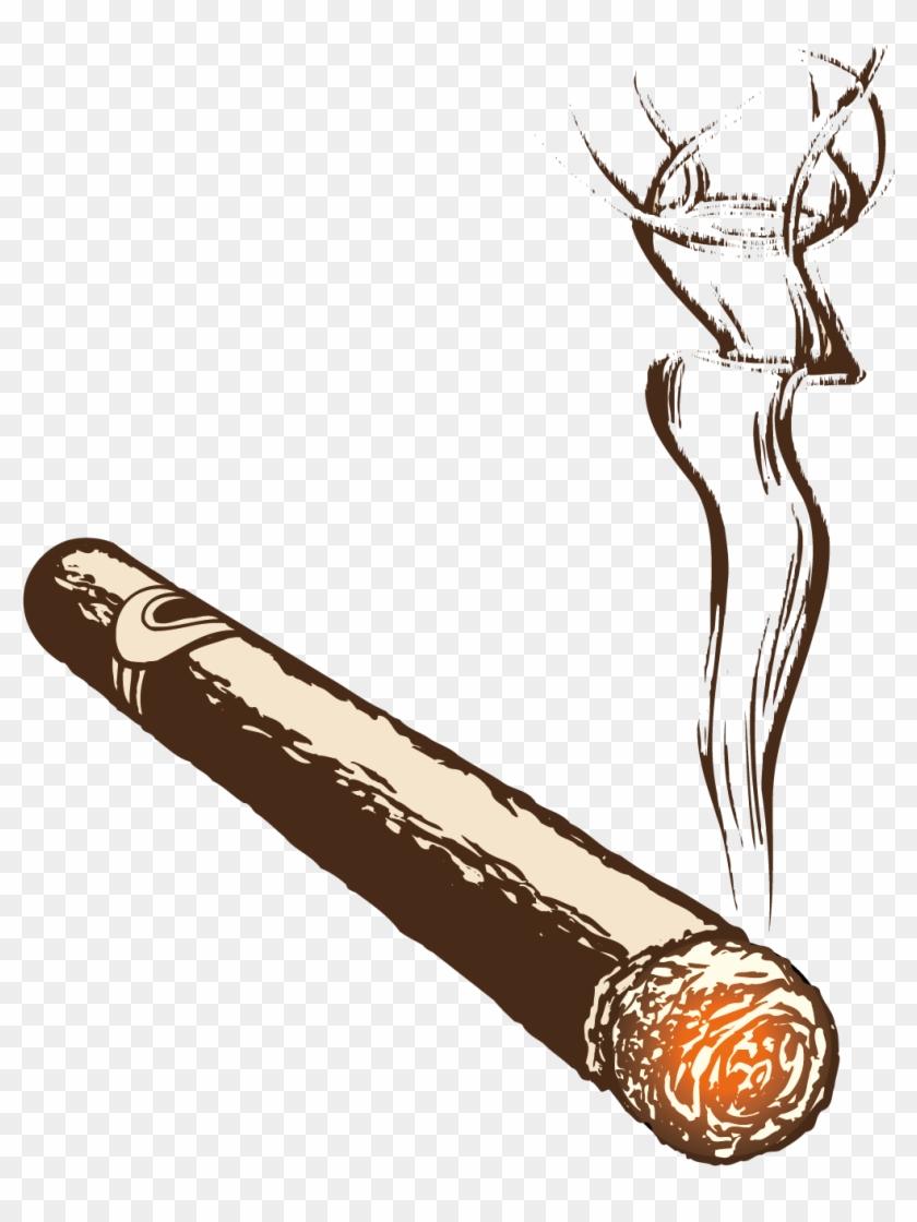 Clip Art Free Download Cigarette Smoke Burning Handmade.