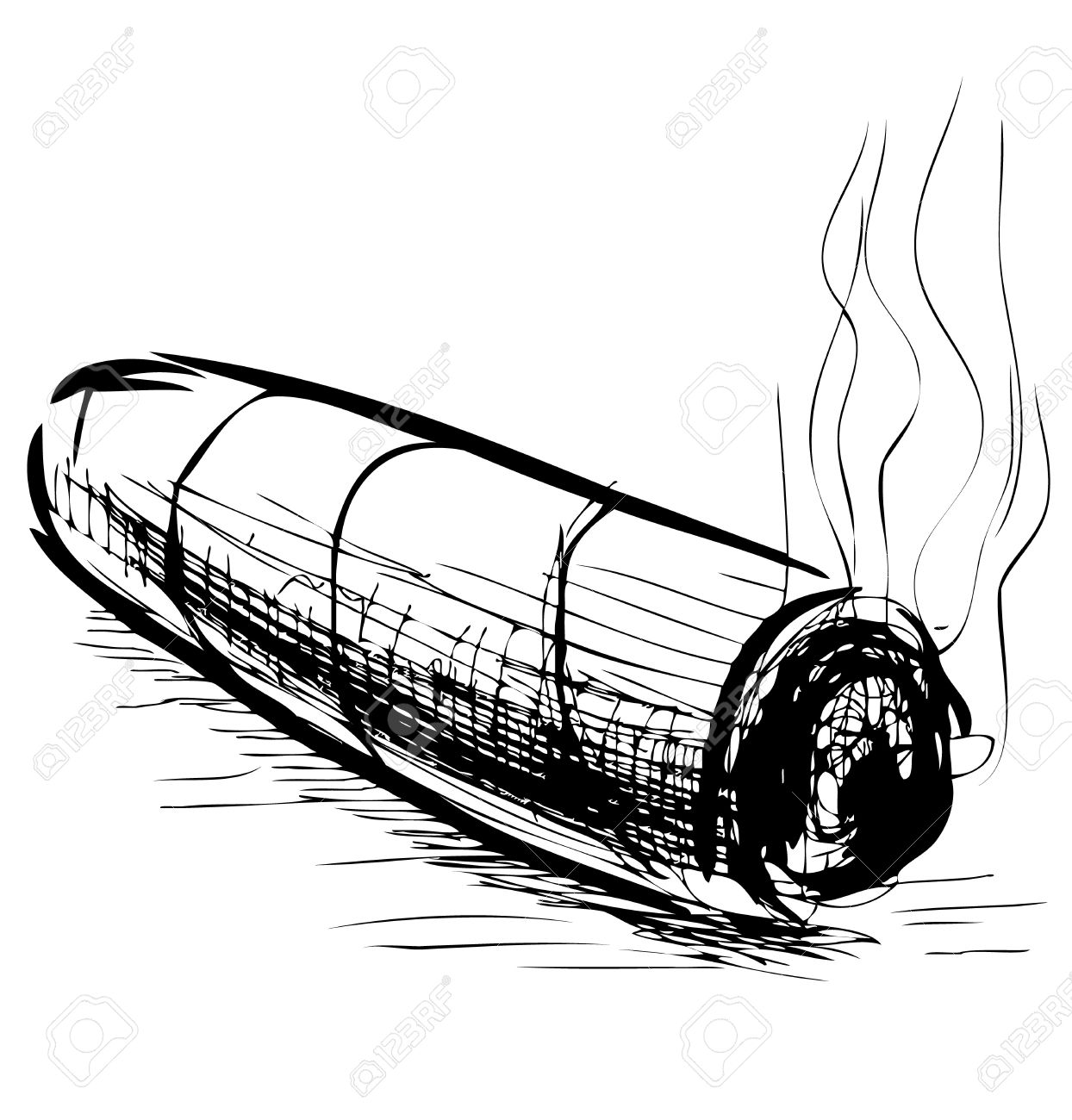 Cigar clipart black and white 7 » Clipart Station.