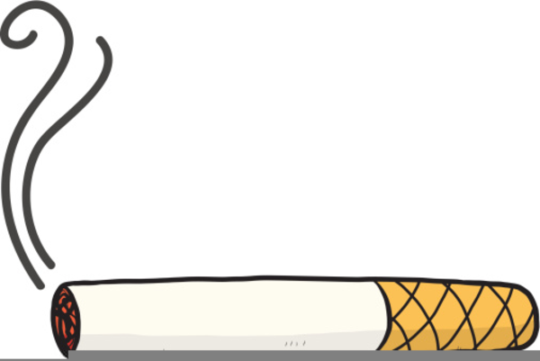 Clipart Of Cigarette Butts.