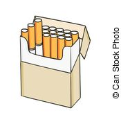 Cigarette pack clipart.