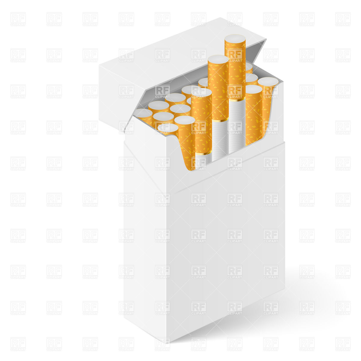 Top of cigarette box opened clipart.