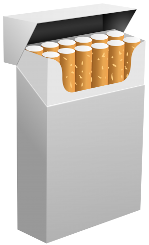White Cigarette Box PNG Clipart.