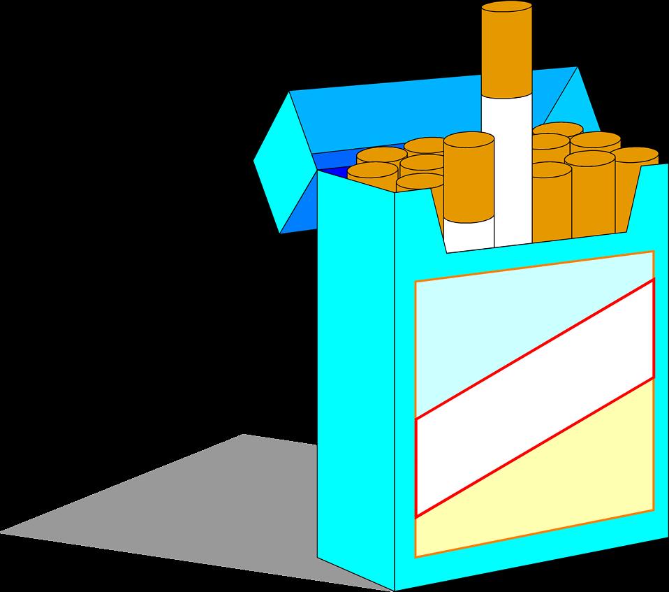 Cigarette box clipart.