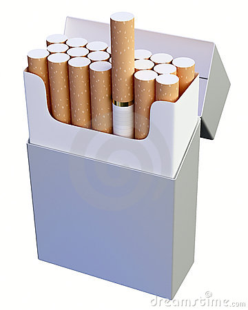 Cigarette box clipart.