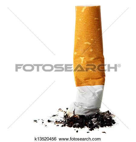 Stock Images of Cigarette butt k13520456.