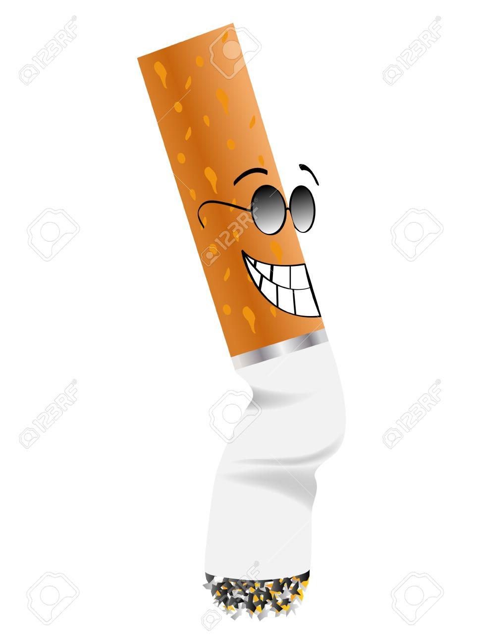 Cigarette Butt Vector Illustration Royalty Free Cliparts, Vectors.