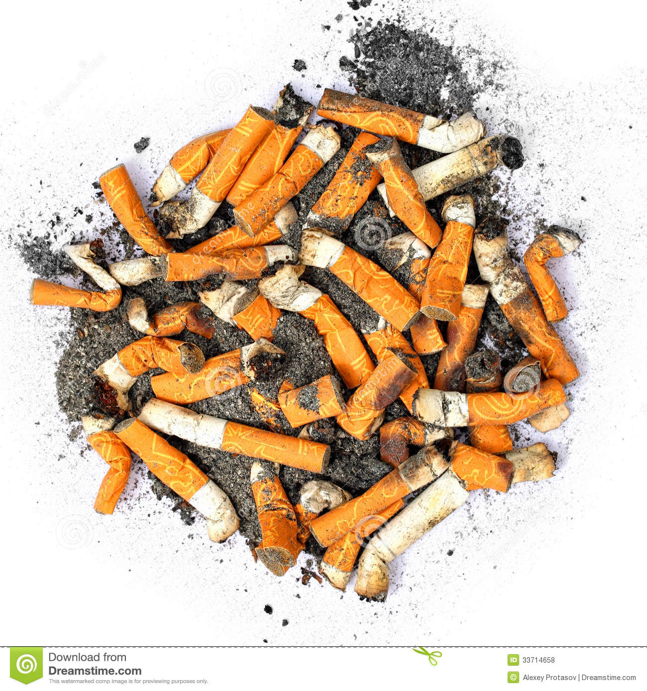 Cigarette Butts Royalty Free Stock Photos.