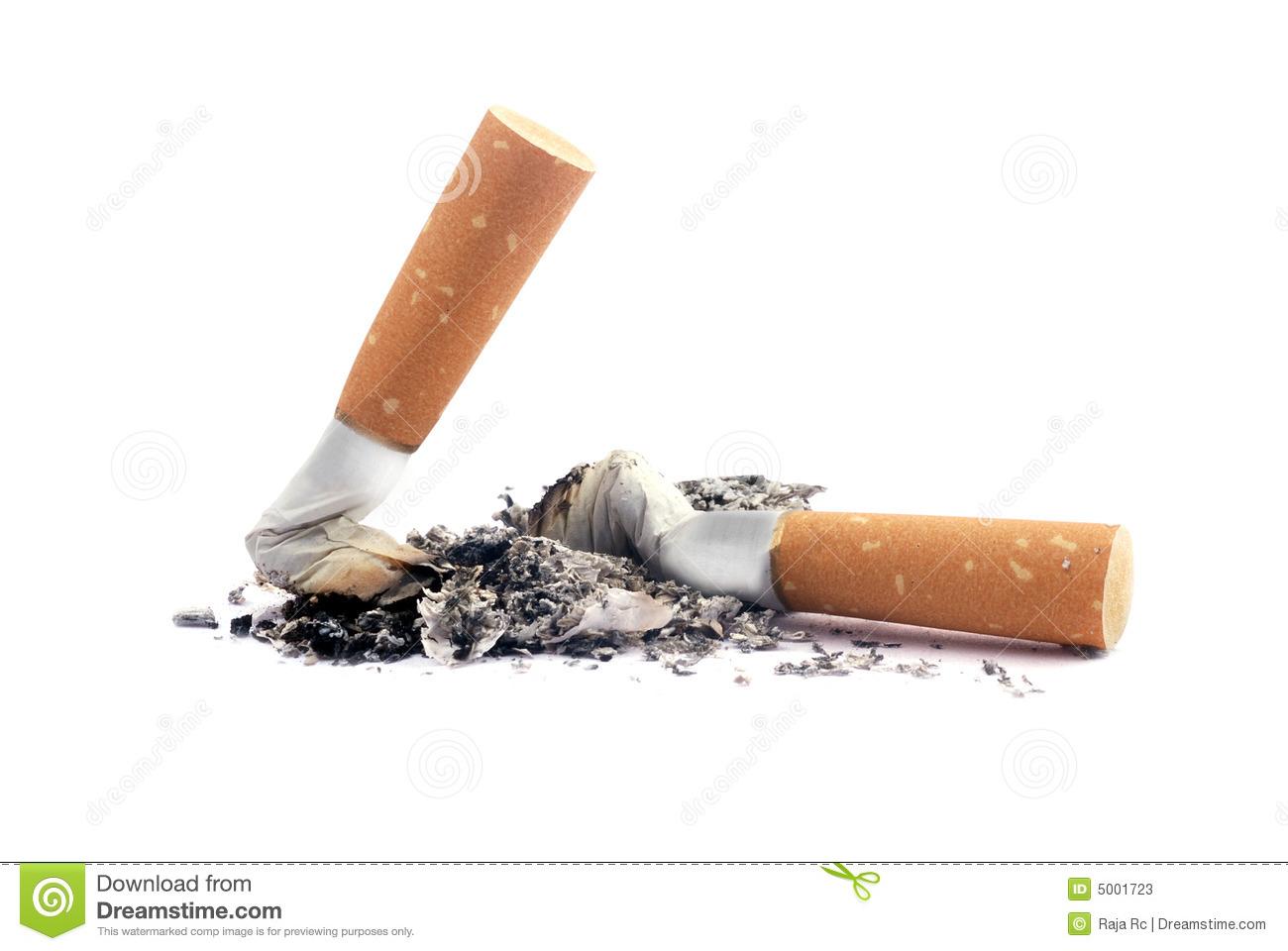 Cigarette Butts Stock Photos.