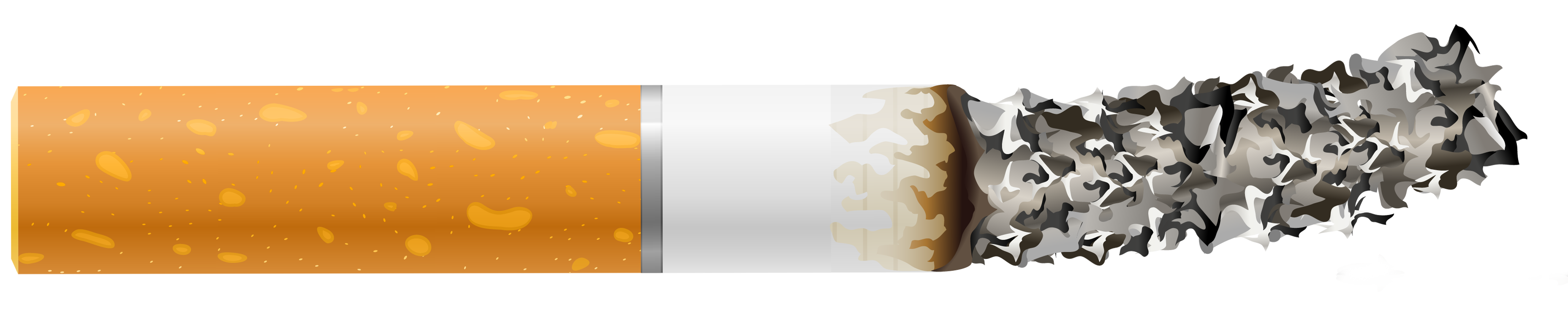 Cigarette Butt with Ash PNG Clipart.