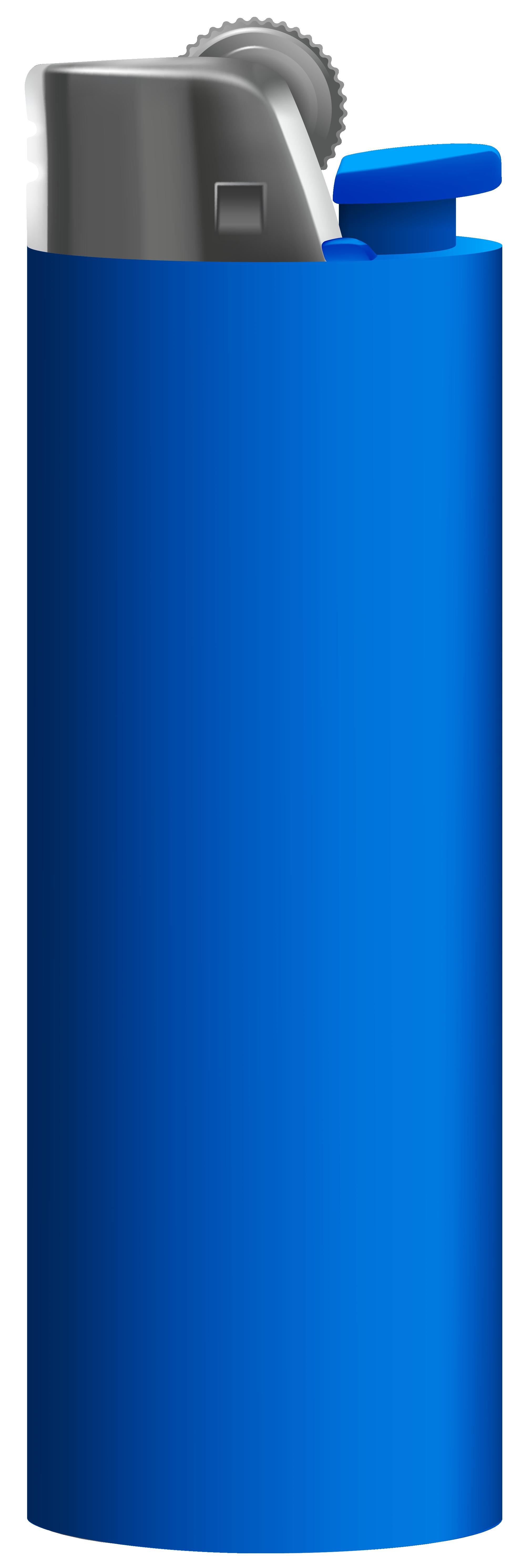 Blue Cigarette Lighter PNG Clipart.
