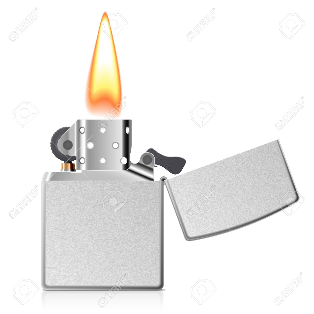 Burning Cigarette Lighter Royalty Free Cliparts, Vectors, And.