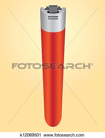 Clipart of Plastic cigarette lighter k12069501.
