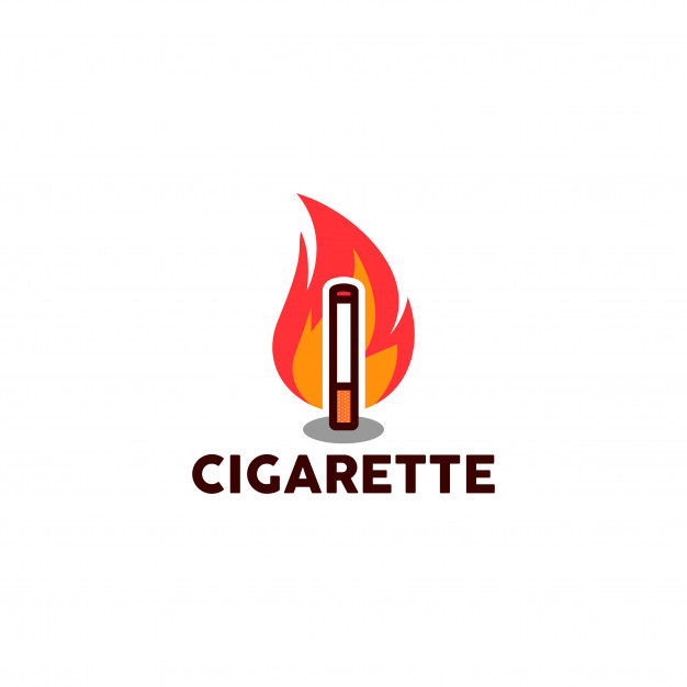 Cigarette logo Vector.