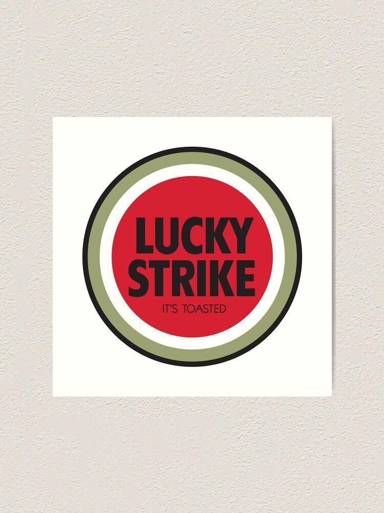 Lucky Strike Cigarette Logo.