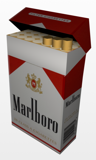 Marlboro Cigarette Pack Model Download.