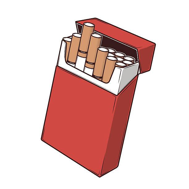 Best Cigarette Pack Illustrations, Royalty.