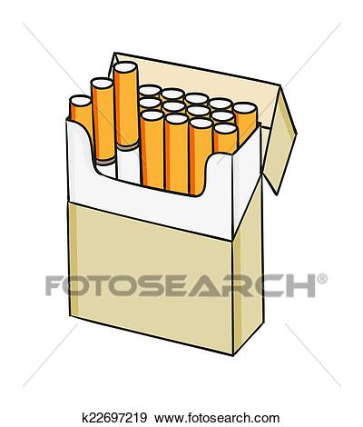 Pack of cigarettes Clip Art.