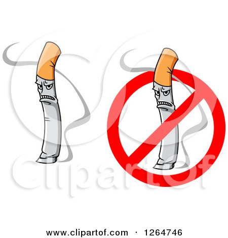 Clipart of Mad Smoking Cigarettes.