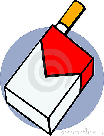 Pack of cigarettes clipart.