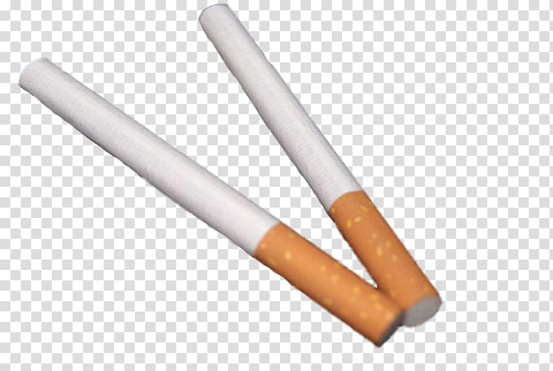 Cigarette Tobacco Nicotine, Two cigarettes transparent background.