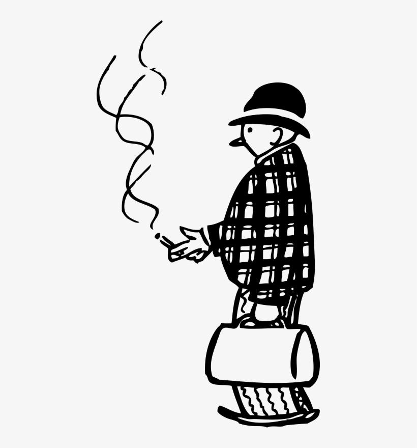 Funny Little Fumador De Cigarro.