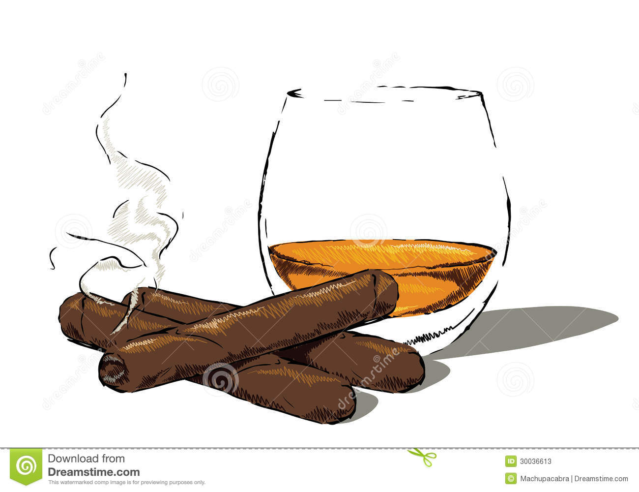 Cigar Smoking Clip Art.