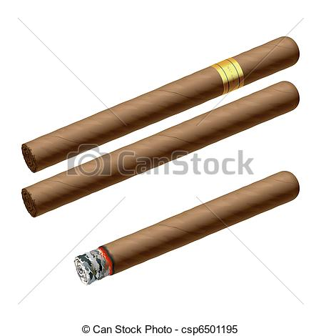 Clipart Vector of Cigars.