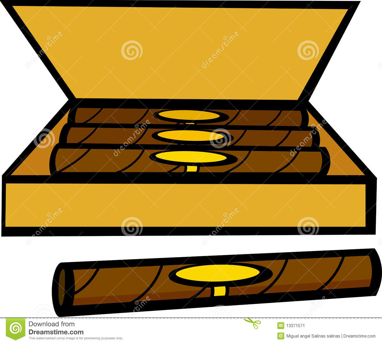 Clipart cigar box.