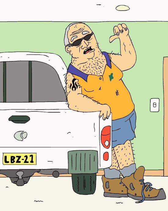 Meanwhile in AustraliaThe disturbed creator of 'Ciggy Butt.