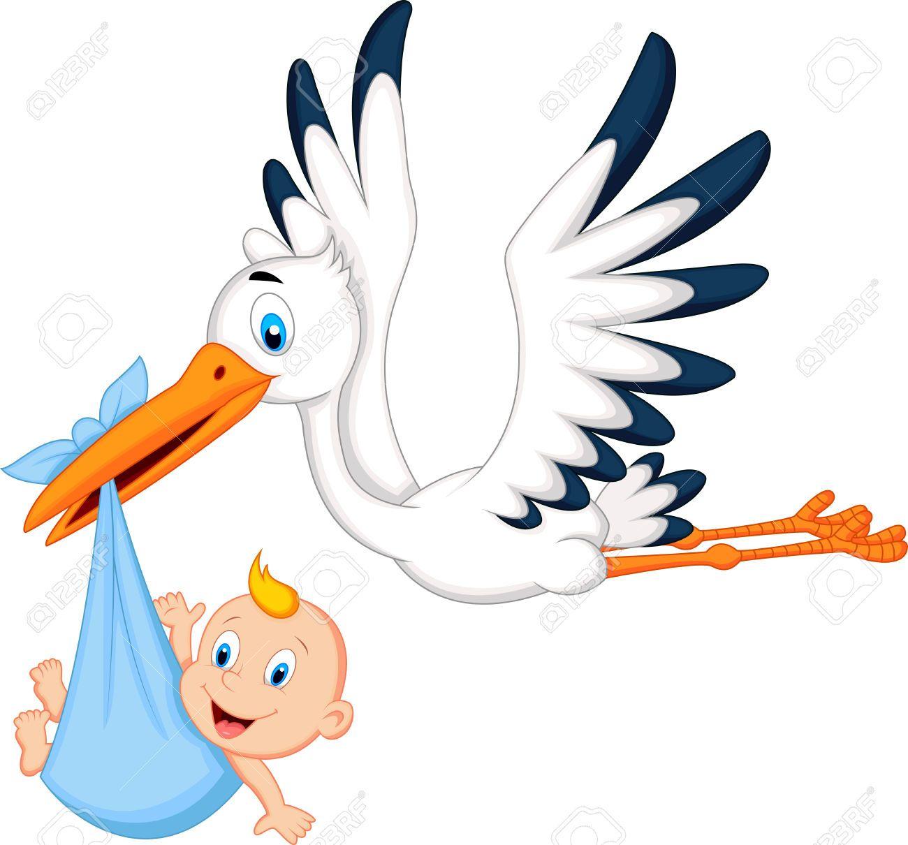 Baby Shower Stork Clipart.