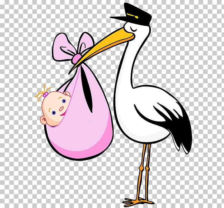 Dibujos animados de cigüeña pájaro, cigüeña libre PNG.