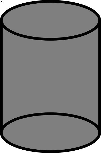 Cylinder shape clipart.