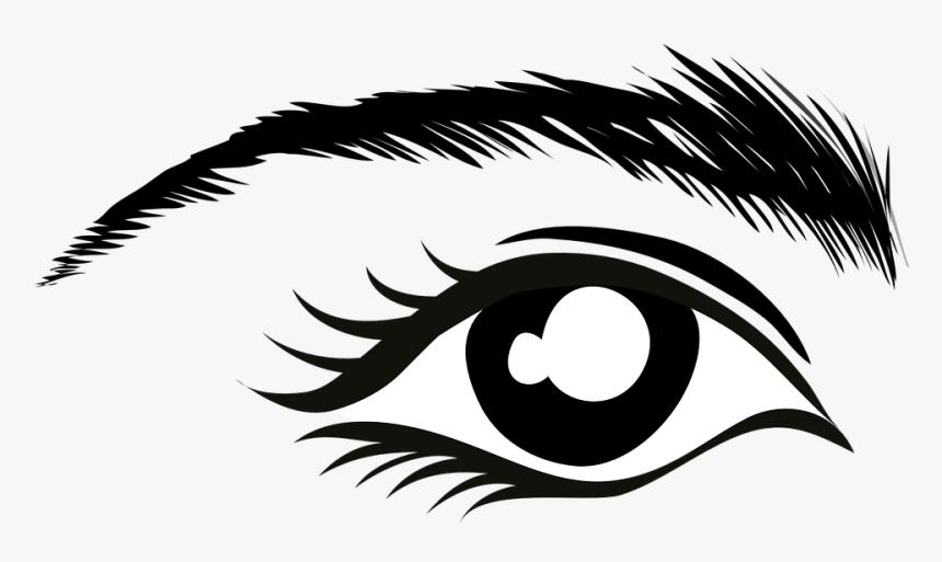 Olho, Sobrancelha, Cílios, Rímel, Stare, Relógio, Black.