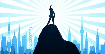 Standing on the peak Clipart Picture Free Download.