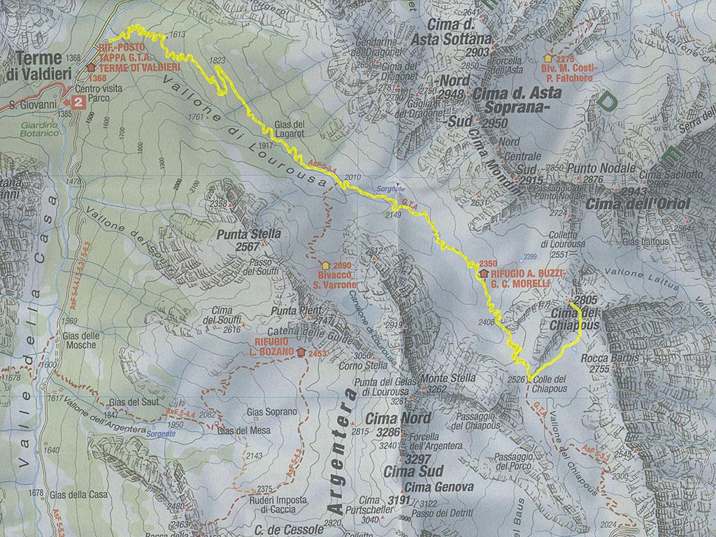 Cima del Chiapous m. 2805 Alpi Marittime.