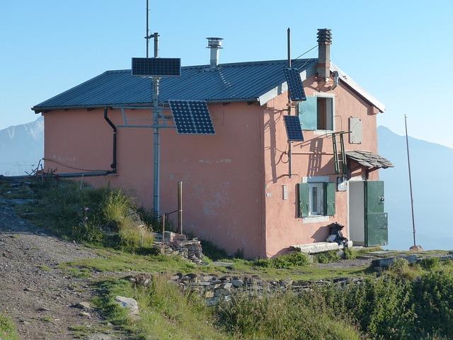 Free photo Mountain Hut Rifugio Garelli Stay Alpine Hut Hut.