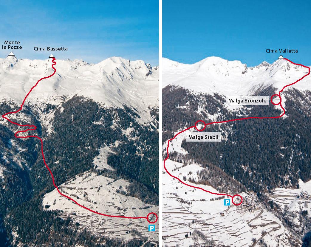 Sci Alpinismo in Val di Sole, Trentino. Itinerario Cima Valletta.