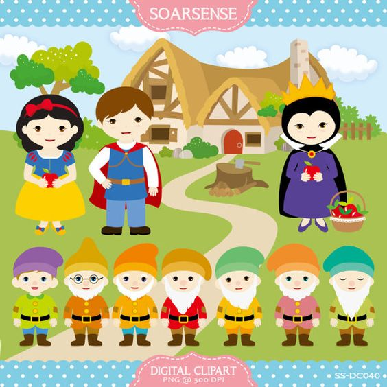 Snow White Clipart by soarsense on Etsy, $5.00.