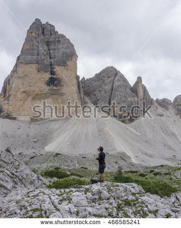 "trekking_in_the_dolomites"" Stock Photos, Royalty."