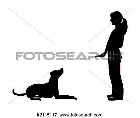 Clipart of Dog training (obedience): command: up k2069351.