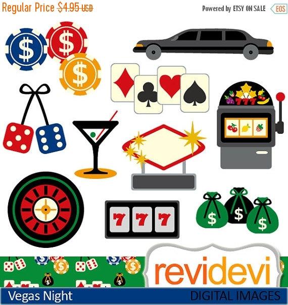 45% OFF SALE Las Vegas casino clip art / digital by revidevi.